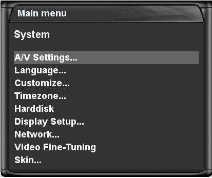 Audio & Video Settings
