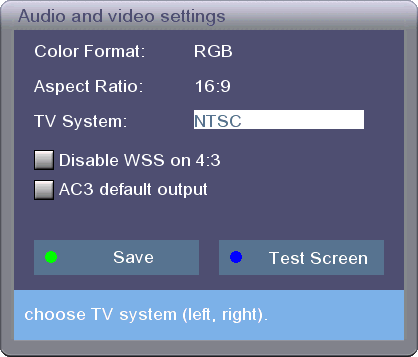 Audio & Video Settings
